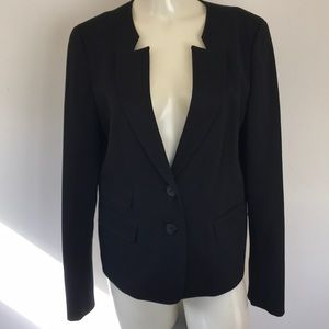 Double Button Suit Jacket Black Blazer